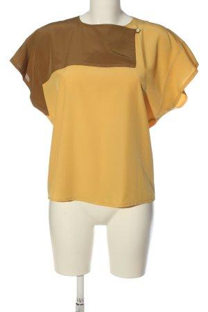 Hucke Camicetta a maniche corte arancione chiaro-marrone stile casual