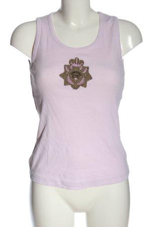 Hucke Tank Top lilac-khaki casual look