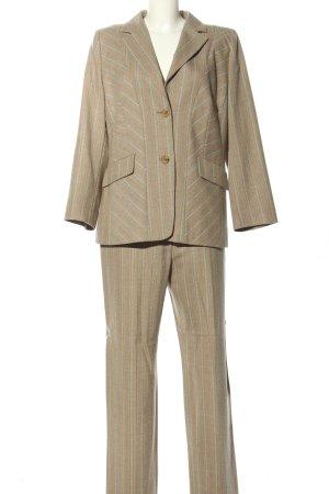 hucke woman Traje de pantalón marrón-turquesa estampado a rayas