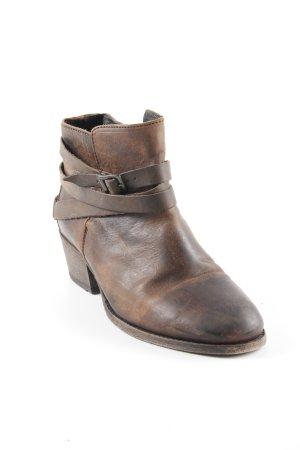 Hudson Ankle Boots braun klassischer Stil