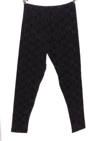 Hudson Baggy Pants hellgrau-schwarz abstraktes Muster Casual-Look