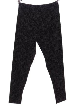 Hudson Pantalone largo grigio chiaro-nero motivo astratto stile casual