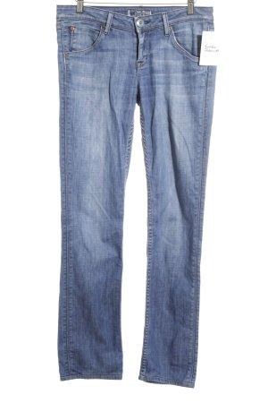 Hudson Hüftjeans blau Street-Fashion-Look