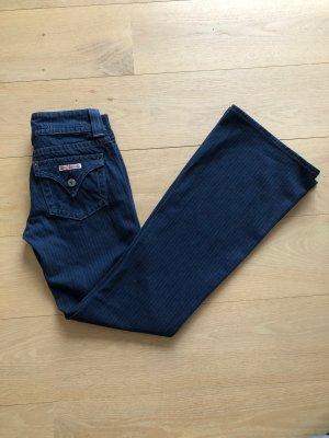 Boot Cut Jeans dark blue-natural white