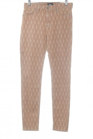 Hudson Jeggings rostrot-sandbraun abstraktes Muster Casual-Look
