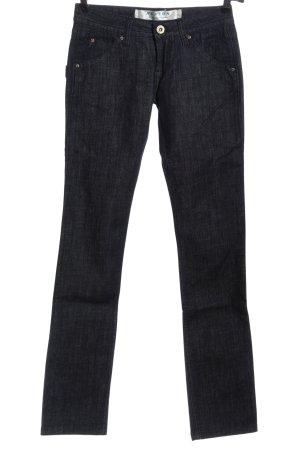 Hudson Jeans slim fit blu puntinato stile casual