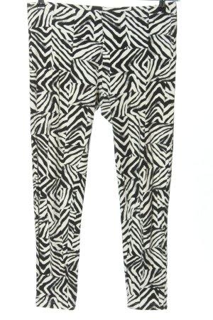 Hue 7/8-Hose schwarz-weiß abstraktes Muster Casual-Look