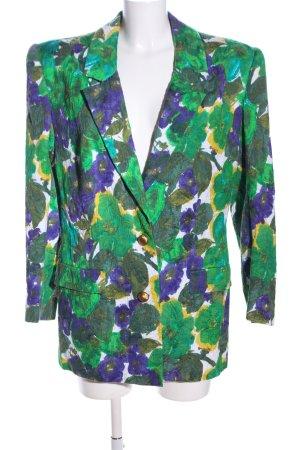 Hübner Haute Couture Long-Blazer Allover-Druck Casual-Look