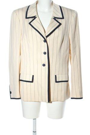 Hübner Haute Couture Long-Blazer wollweiß Streifenmuster Business-Look