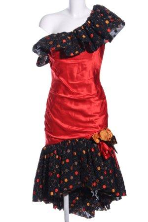 Hübner Haute Couture Robe asymétrique motif de tache style mouillé
