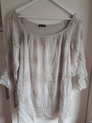 Made in Italy Slip-over Blouse oatmeal mixture fibre