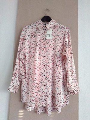 hübsche Bluse mit Herzchen-Muster, Größe L, neu