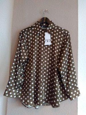 hübsche Bluse mit Polka-Dots, Größe M, neu