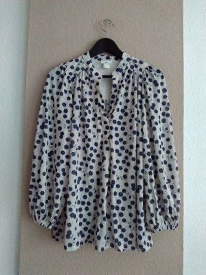 hübsche Bluse mit Punkte, Größe M oversize, neu