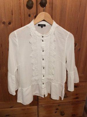 More & More Long Sleeve Blouse white viscose