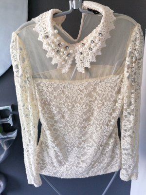 Lace Blouse pale yellow