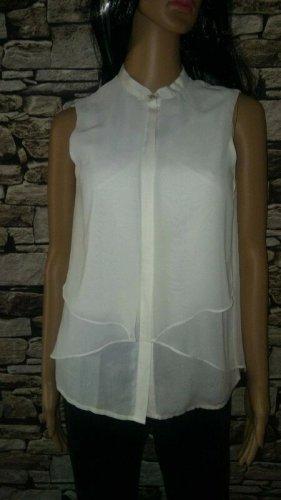 More & More Blusa senza maniche bianco-bianco sporco Tessuto misto