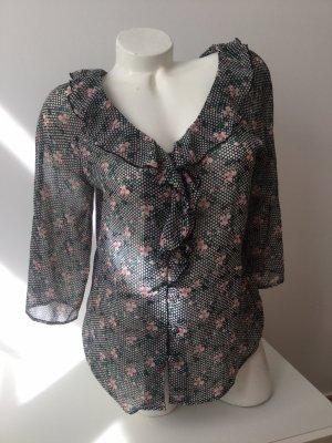 Hübsche Bluse von Naf Naf mit Blumenprint, Gr. S