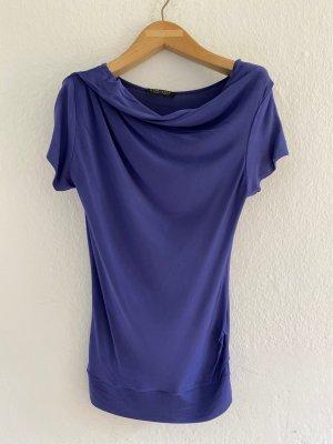 Strenesse Gabriele Strehle Cowl-Neck Shirt blue violet viscose