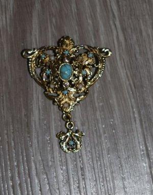 Spilla oro-turchese Metallo