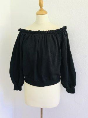 Asos Carmen blouse zwart Katoen
