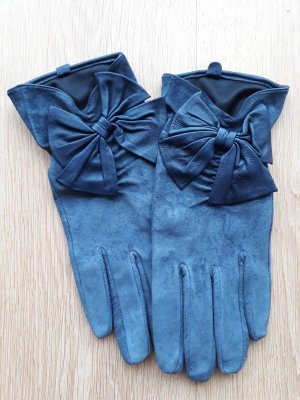 Promod Guantes de cuero azul oscuro Cuero
