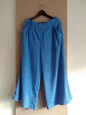 hübsche gepunktete Hose in blau-schwarz, Grösse XL, neu
