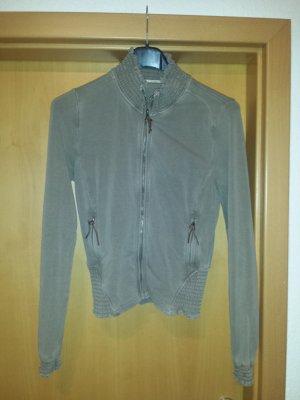 hübsche grau braune Sweat-Jacke von Gas, Gr. 38 / M