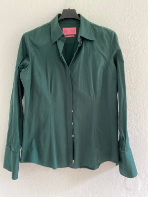Charles Tyrwhitt Shirt Blouse petrol-forest green cotton
