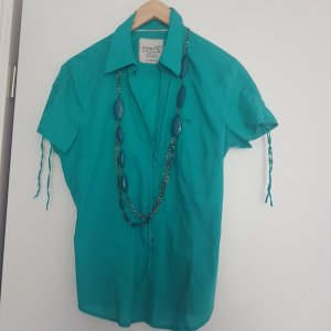 Hübsche Hemdbluse von Esprit türkisgrün  Gr 42