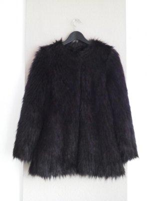 hübsche Jacke aus künstlichem Fell in dunkelbraun, Grösse S