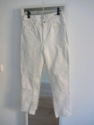 Mango Hoge taille jeans wit Katoen