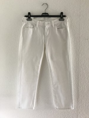 7 For All Mankind Jeans a 7/8 bianco Cotone