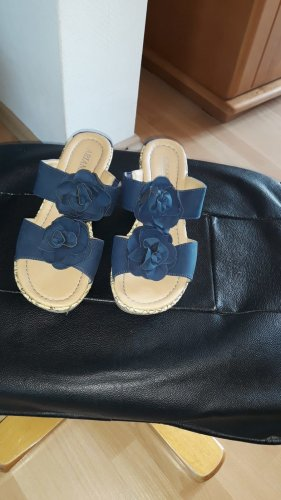 Ariane Heel Pantolettes dark blue