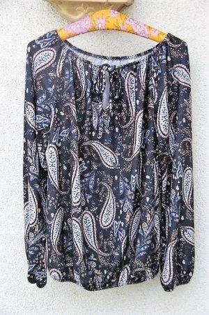 Hübsche Langarmbluse mit Paisley-Muster in Gr. XL von Vestino.
