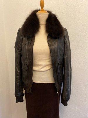 Bayside Biker Jacket dark brown leather