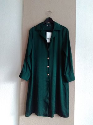 Zara Long Blouse green-gold-colored polyester