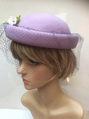 Felt Hat purple wool