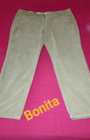 Bonita Spodnie z pięcioma kieszeniami jasnobeżowy-kremowy