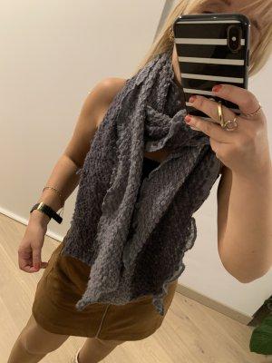 keine Gebreide sjaal grijs-lichtgrijs