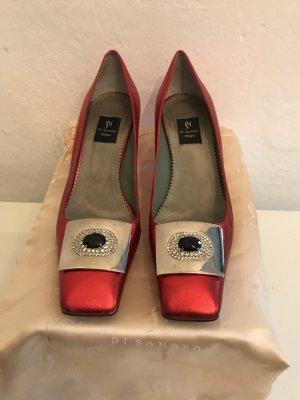 Hübsche Schuhe von DI SANDRO Bologna, Rot- breunlich/perlmut, Gr.39. LETZTE TREDUZIERUNG!!!