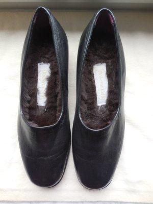 Roberta Celli Bailarinas con tacón Mary Jane negro-marrón oscuro Cuero
