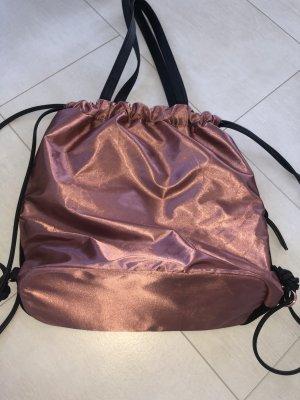 Borsa con manico color oro rosa-nero