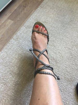 Plateauzool sandalen zilver