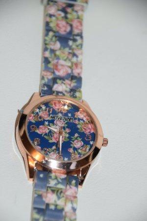 Hübsche Uhr mit Blumen