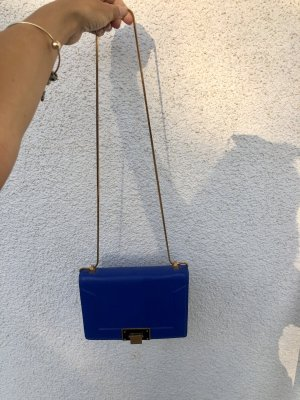 Charles & Keith Crossbody bag blue mixture fibre