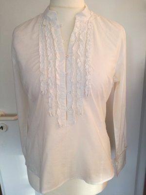 Hübsche weiße Bluse mit Volants