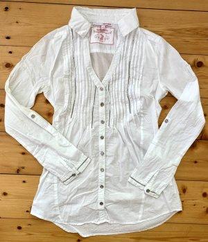 hübsche weiße taillierte Bluse von Tally Weijl Gr. S 36