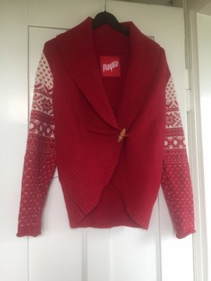 Playlife Noors vest rood-wolwit Wol