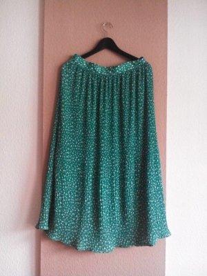 Zara Plaid Skirt green-white polyester